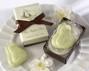 'The Perfect Pair' Pear-Scented Wedding Soap Favors image