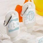 Personalized Beach Tides Sunscreen Bottle Favors