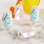 Personalized Pineapples and Palms Sunscreen Favors