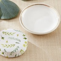 Botanical Wrapped Soap with Ceramic Trinket Dish Favors