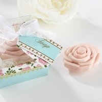 Tea Time Whimsy Pink Rose Soap Favors