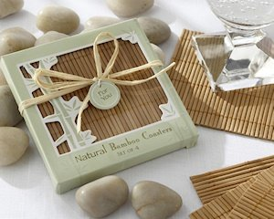 Natural Bamboo Eco-Friendly Coasters (4 per Set) image