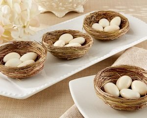 Natural Bird Nest Favor Holders (Set of 12) image