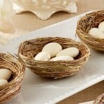 Natural Bird Nest Favor Holders (Set of 12)