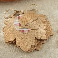 Leaf Cork Coaster Favor Sets