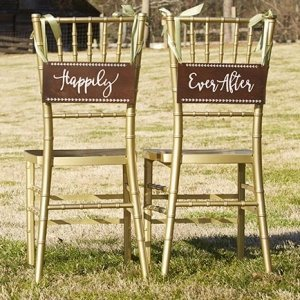 Happily Ever After Wood Chair Signs image