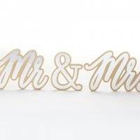 Gold Mr & Mrs Sweetheart Table Sign