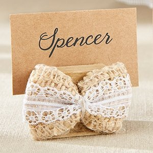 Burlap Bow Place Card Holder (Set of 6) image