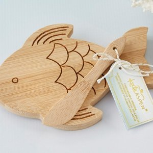 Fish Shaped Cheeseboard and Spreader image