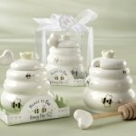 'Meant to Bee' Ceramic Honey Pot with Dipper