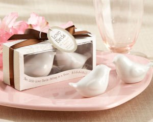 Love Birds Salt and Pepper Shakers Wedding Favors image