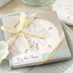'By the Shore' Sand Dollar Beach Coaster Favor