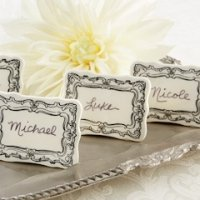 Vintage Filigree Ceramic Place Markers (Set of 6)