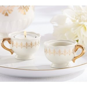 Classic Gold Teacups Tealight Holder (Set of 4) image