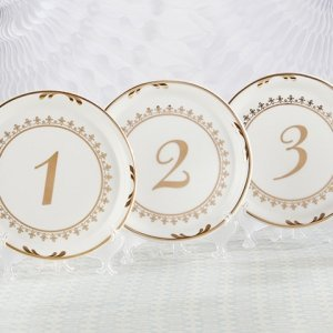 Tea Time Vintage Plate Table Numbers image
