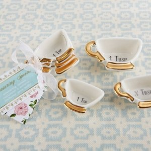 Tea Time Whimsy Ceramic Teacup Measuring Spoons image