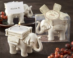 Lucky Elephant Tealight Candle Holder Favors image