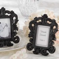 Elegant Black Baroque Place Card Frame