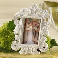 White Baroque Wedding Table Frames