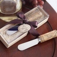 Spreader Wedding Favors with Wine Cork Handle