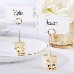 LOVE Gold Place Card Holder (Set of 6) image
