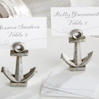 Nautical Anchor Place Card or Photo Holders (Set of 6)