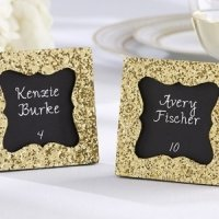 All that Glitters Gold Square Frame with Chalkboard Insert