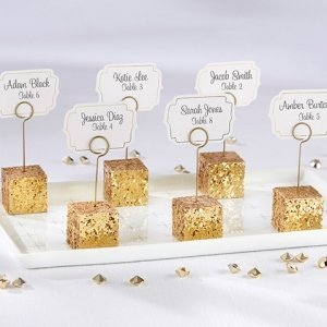 Gold Glitter Placecard Holders (Set of 6) image
