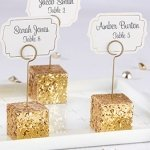 Gold Glitter Placecard Holders (Set of 6)