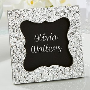 Sparkle and Shine Silver Glitter Frame Favors image