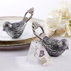 Antiqued Bird Bottle Opener Favors image