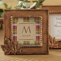 Copper Leaf Place Card Frame Favors