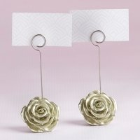 Light Gold Rose Place Card Holder (Set of 6)