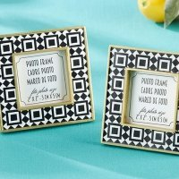 Tropical Chic Tile Patterned Frame Favors