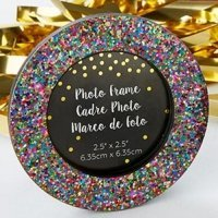 Multicolor Glitter Frame Favors