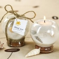 Sand and Shell Tealight Candle Holder