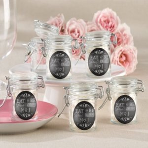 Personalized Eat Drink & Be Married Glass Jars (Set of 12) image