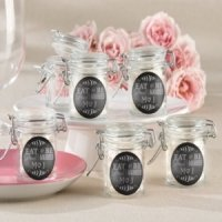Personalized Eat Drink & Be Married Glass Jars (Set of 12)