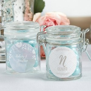 Personalized Ethereal Glass Favor Jars (Set of 12) image