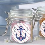 Personalized Nautical Glass Bridal Favor Jars (Set of 12)
