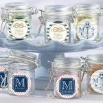 Nautical Theme Personalized Glass Favor Jars (Set of 12)