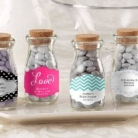 Personalized Vintage Wedding Favor Glass Bottles (Set of 12)