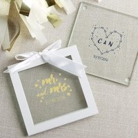 Personalized Under the Stars Glass Coaster Favors (Set of 12