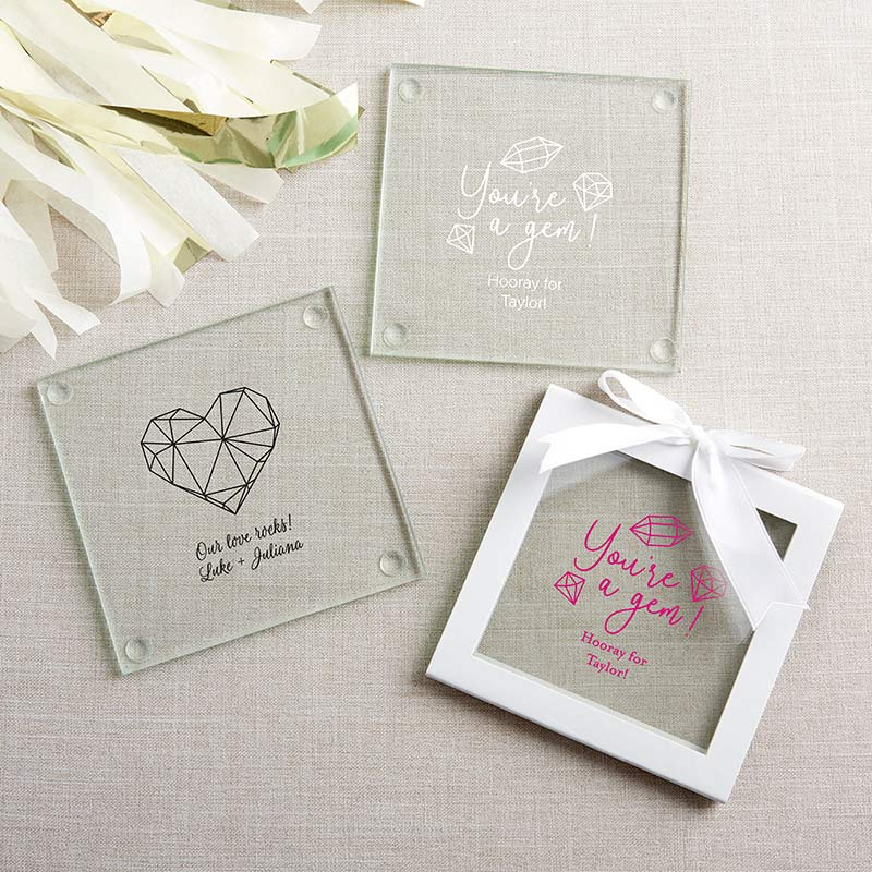 Personalized Elements Glass Coasters (Set of 12) image