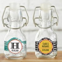 Personalized Tropical Chic Mini Glass Favor Bottle (Set of 1