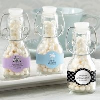 Personalized Mini Glass Favor Bottle (Set of 12)