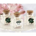 Romantic Garden Petite Square Glass Favor Jars (Set of 12)