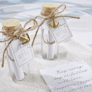 'Message in a Bottle' Glass Favor Bottles (Set of 12) image