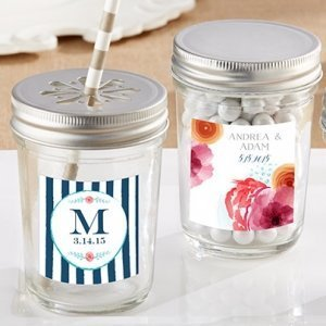 Personalized Botanical Mason Jar (Set of 12) image