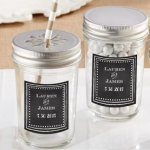 Personalized Chalk Design Mason Jar (Set of 12)
